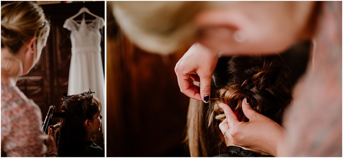 mariage au chateau près d'annecy coiffure