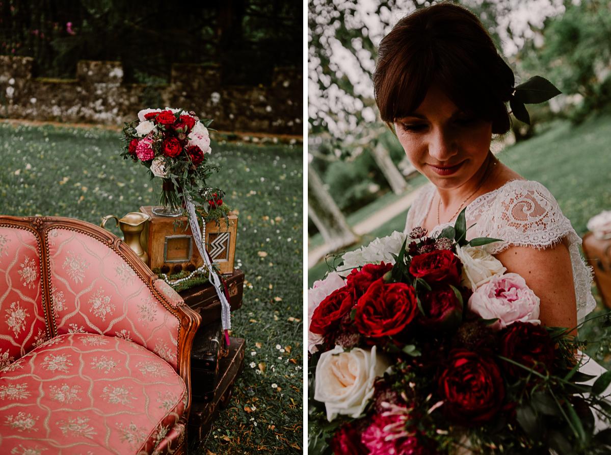 mariage au chateau près d'annecy bouquet