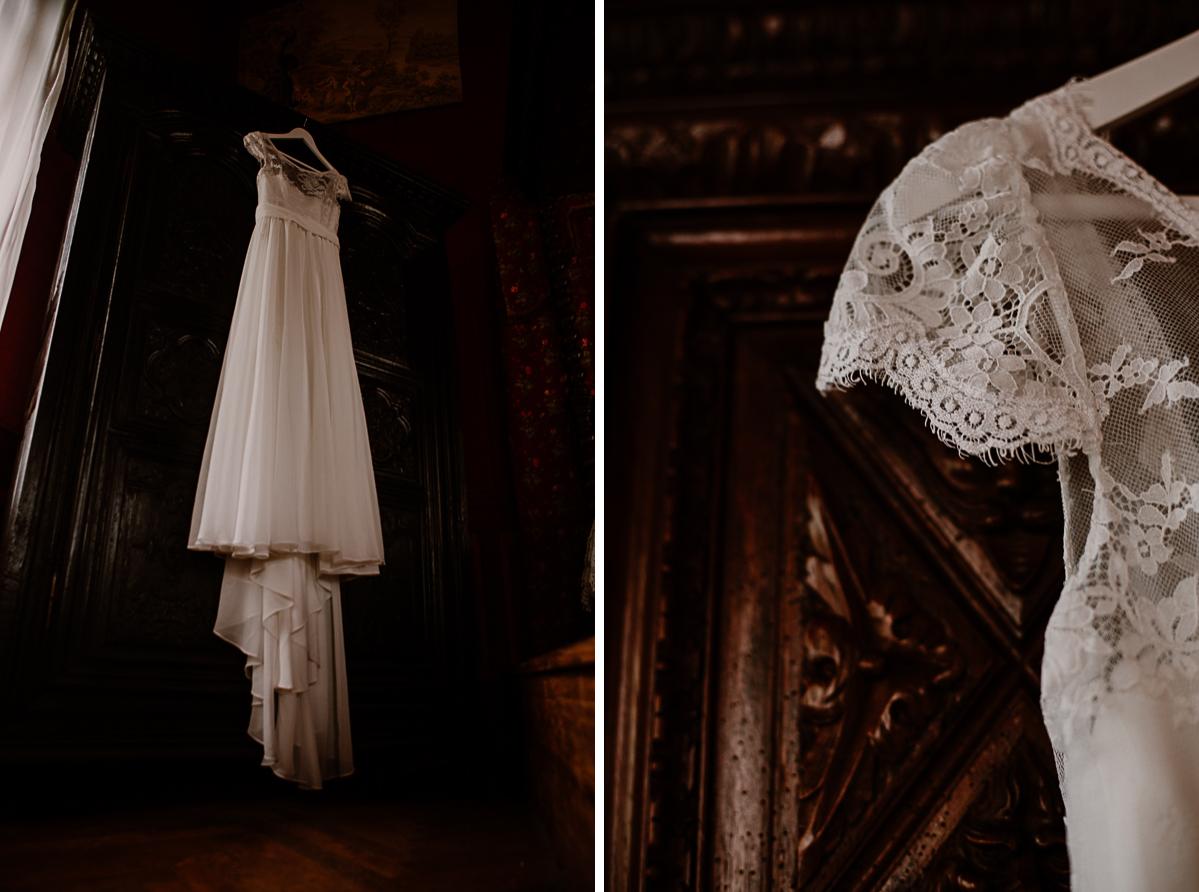 mariage au chateau près d'annecy robe