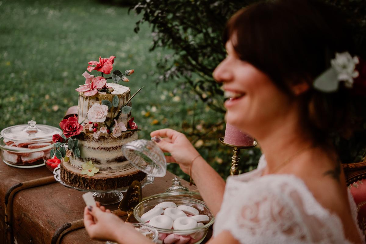 mariage au chateau près d'annecy cake