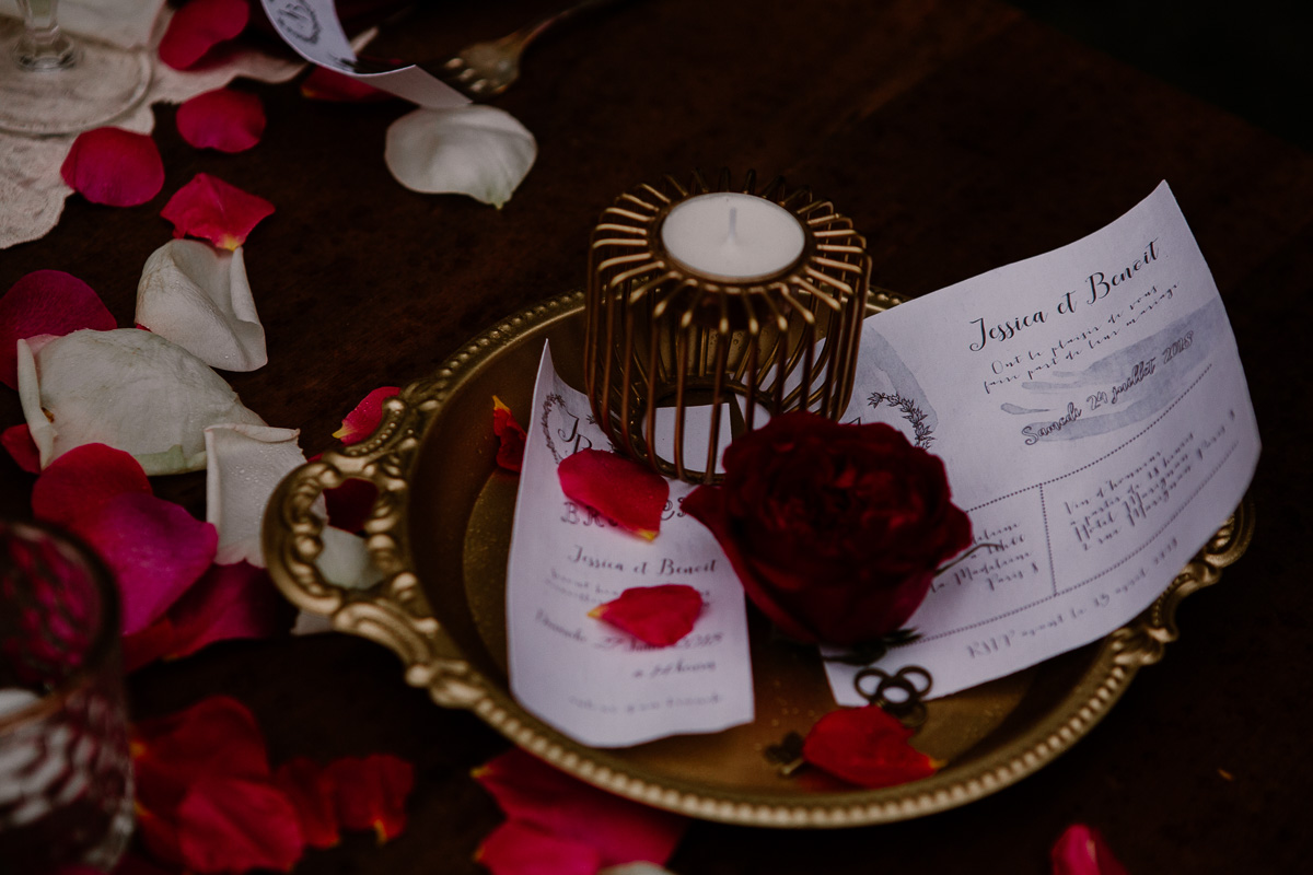 mariage au chateau près d'annecy menu