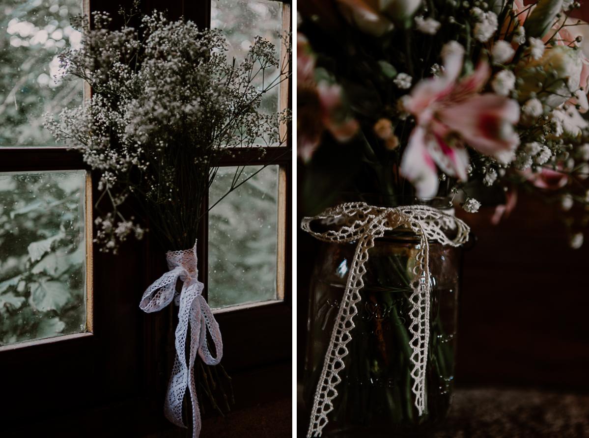 Mariage champêtre au chateau de Chazeron Auvergne fleurs