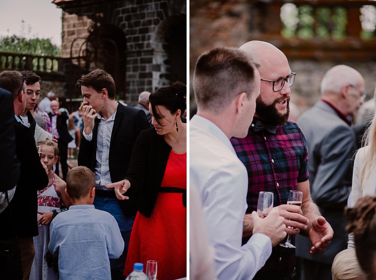 Mariage champêtre au chateau de Chazeron Auvergne invités
