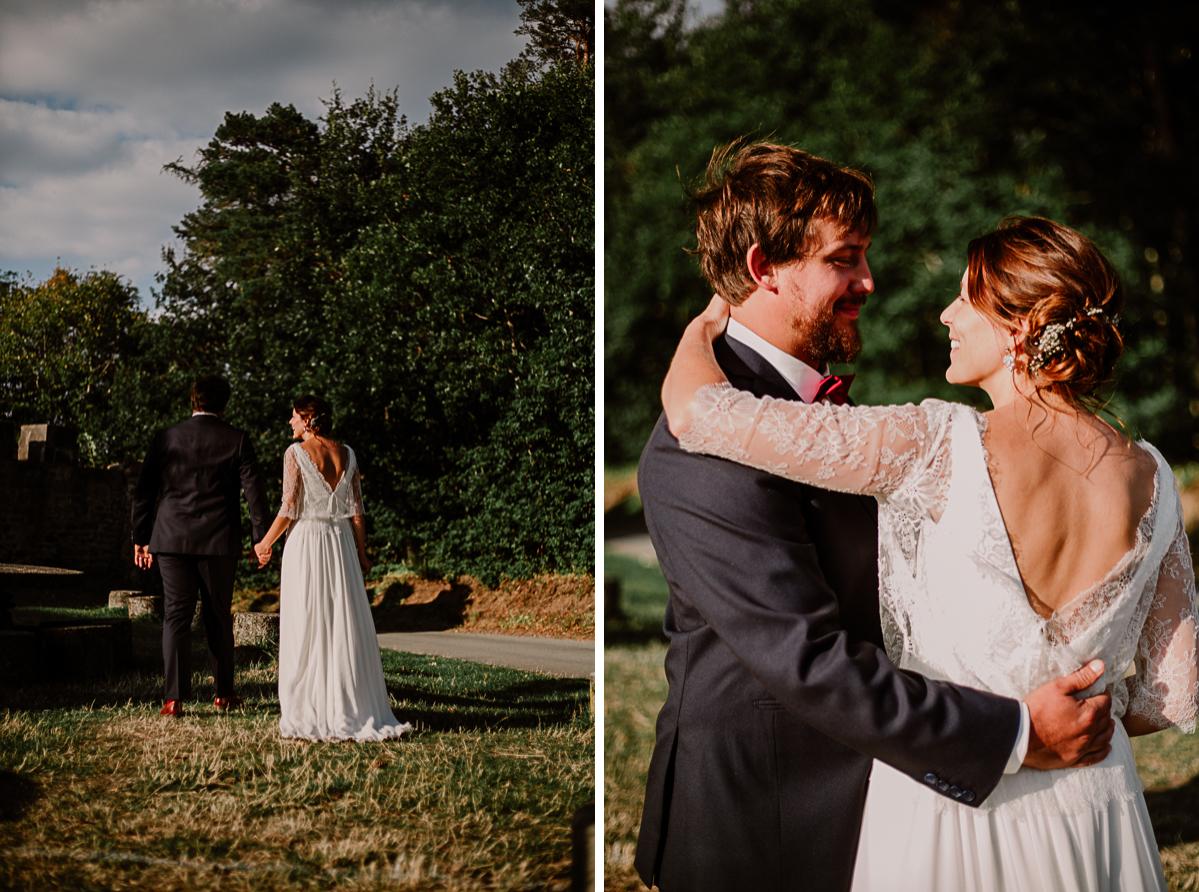 Mariage champêtre au chateau de Chazeron Auvergne couple