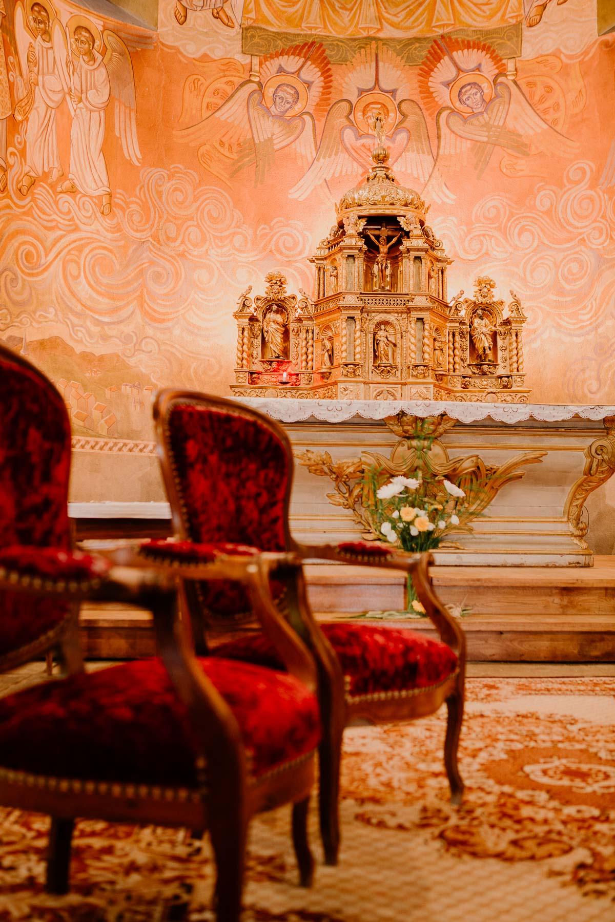 Mariage champêtre au chateau de Chazeron Auvergne coeur