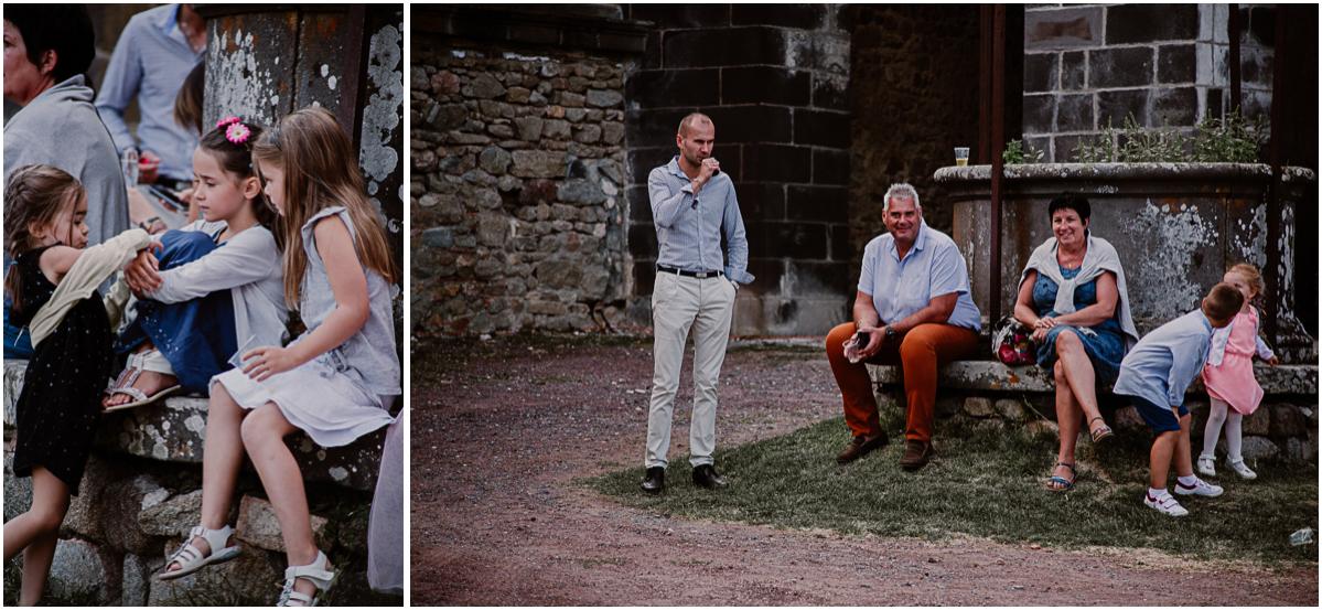 Mariage champêtre au chateau de Chazeron Auvergne enfants