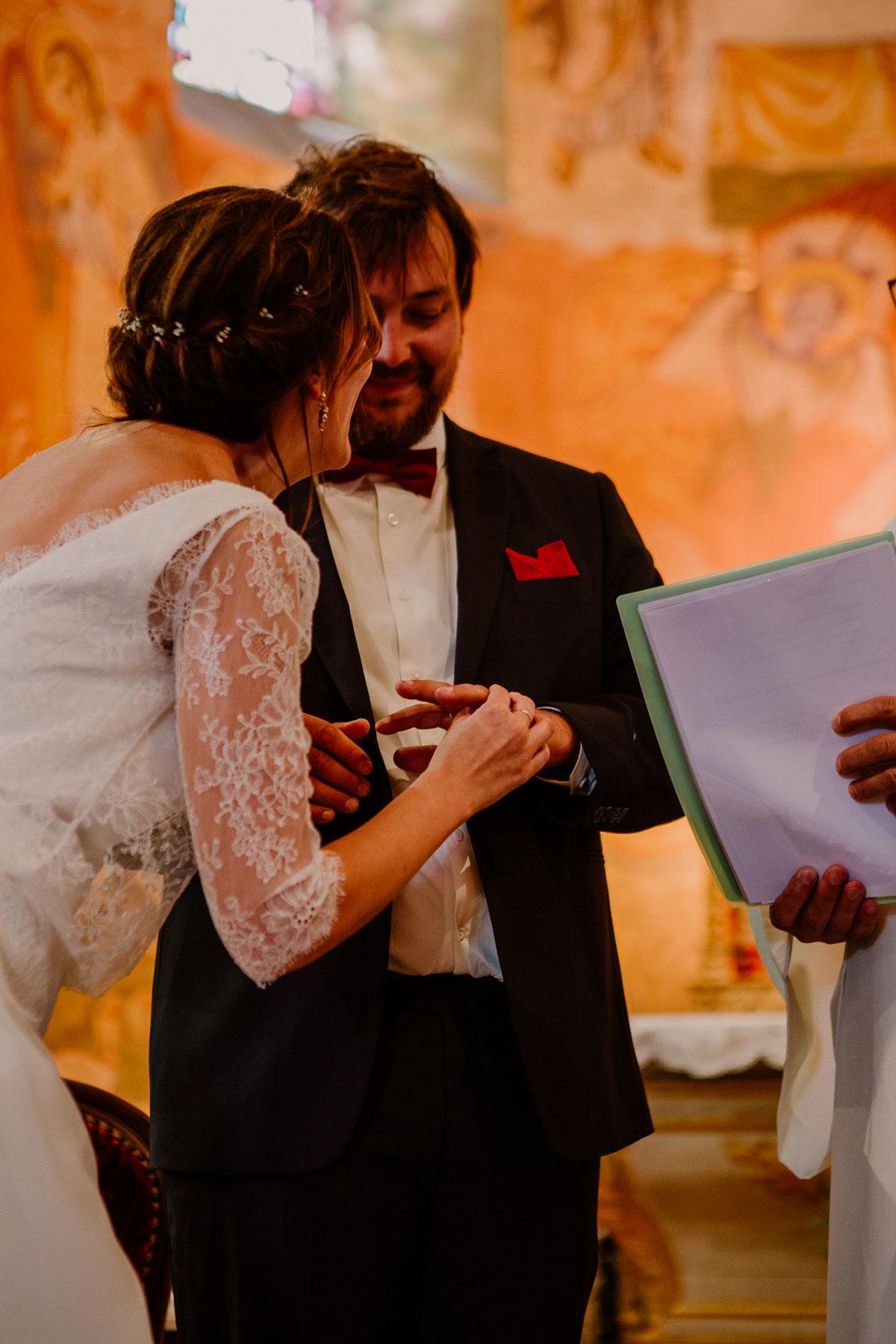 Mariage champêtre au chateau de Chazeron Auvergne alliance