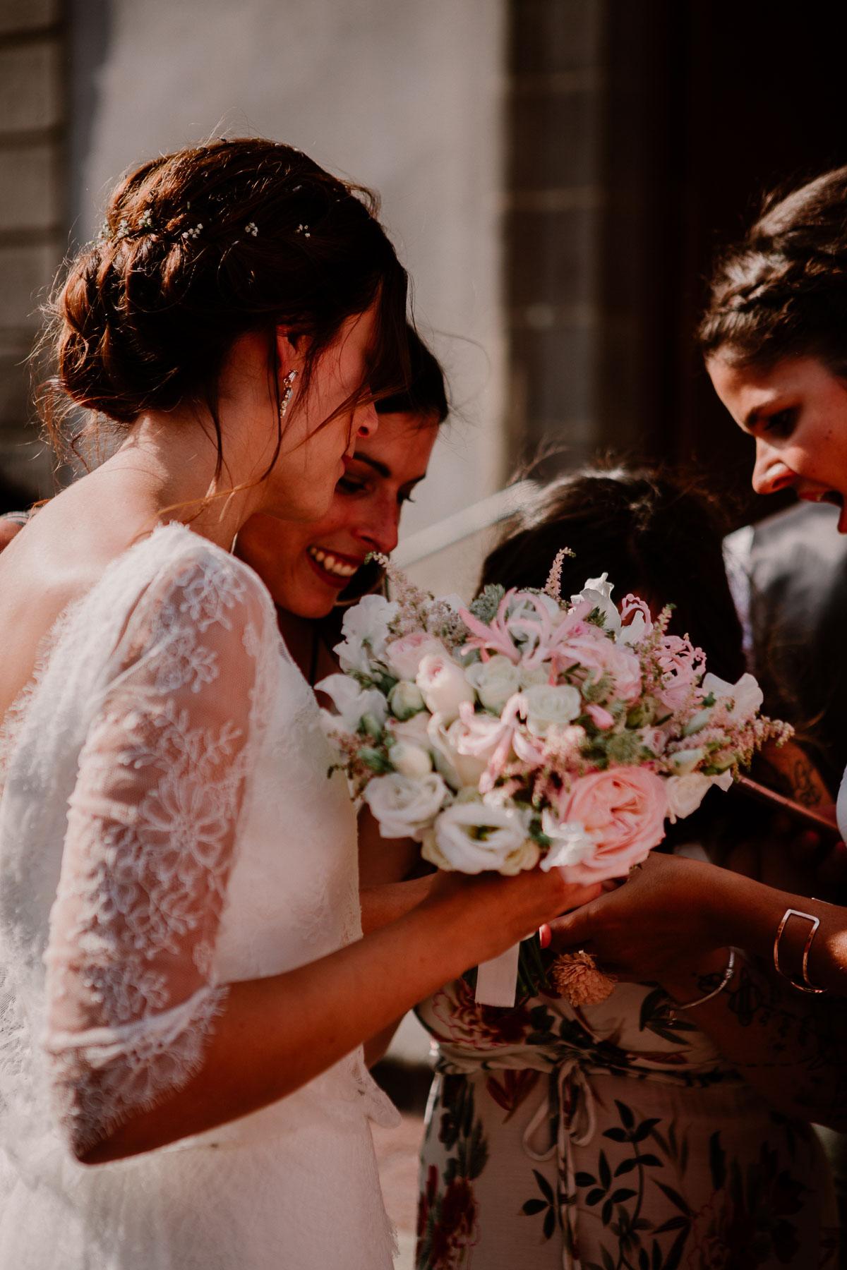 Mariage champêtre au chateau de Chazeron Auvergne copines