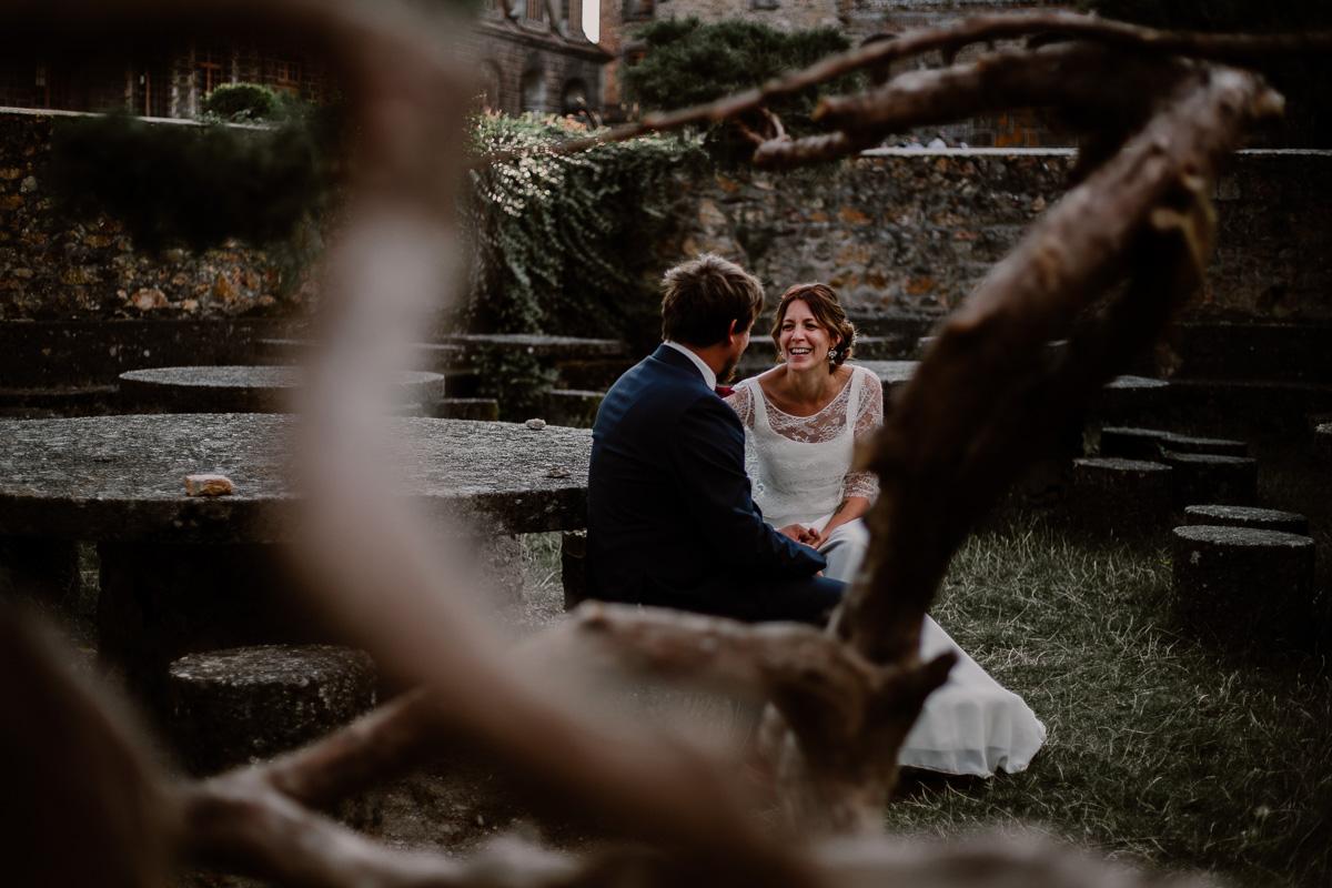 Mariage champêtre au chateau de Chazeron Auvergne humour