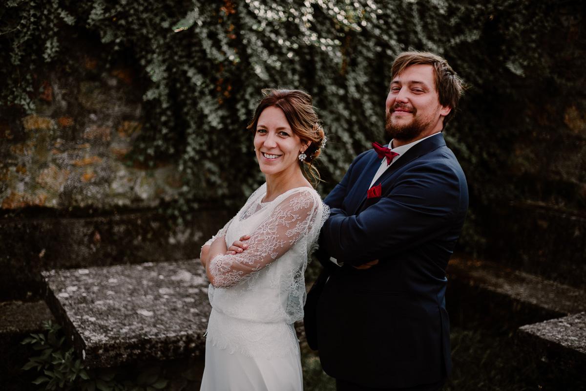 Mariage champêtre au chateau de Chazeron Auvergne rugbyman