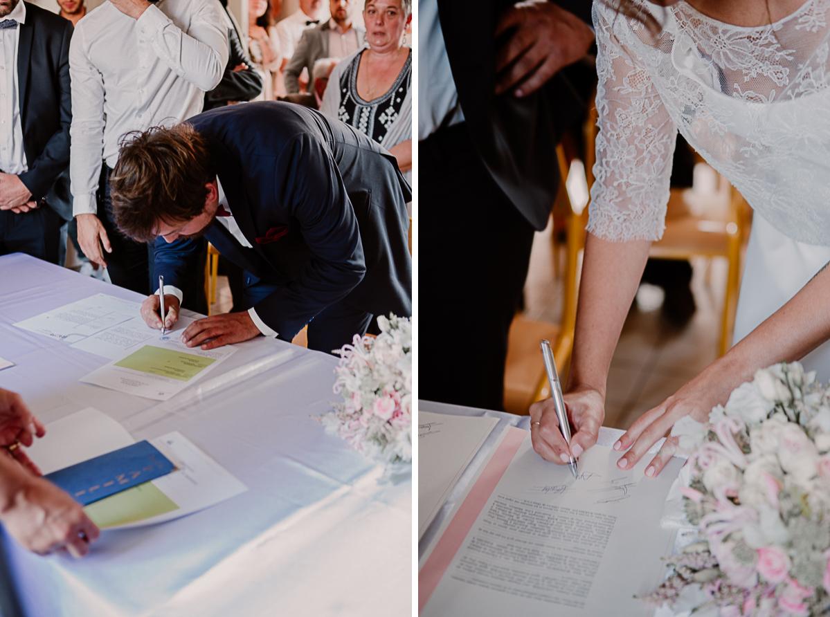 Mariage champêtre au chateau de Chazeron Auvergne signature