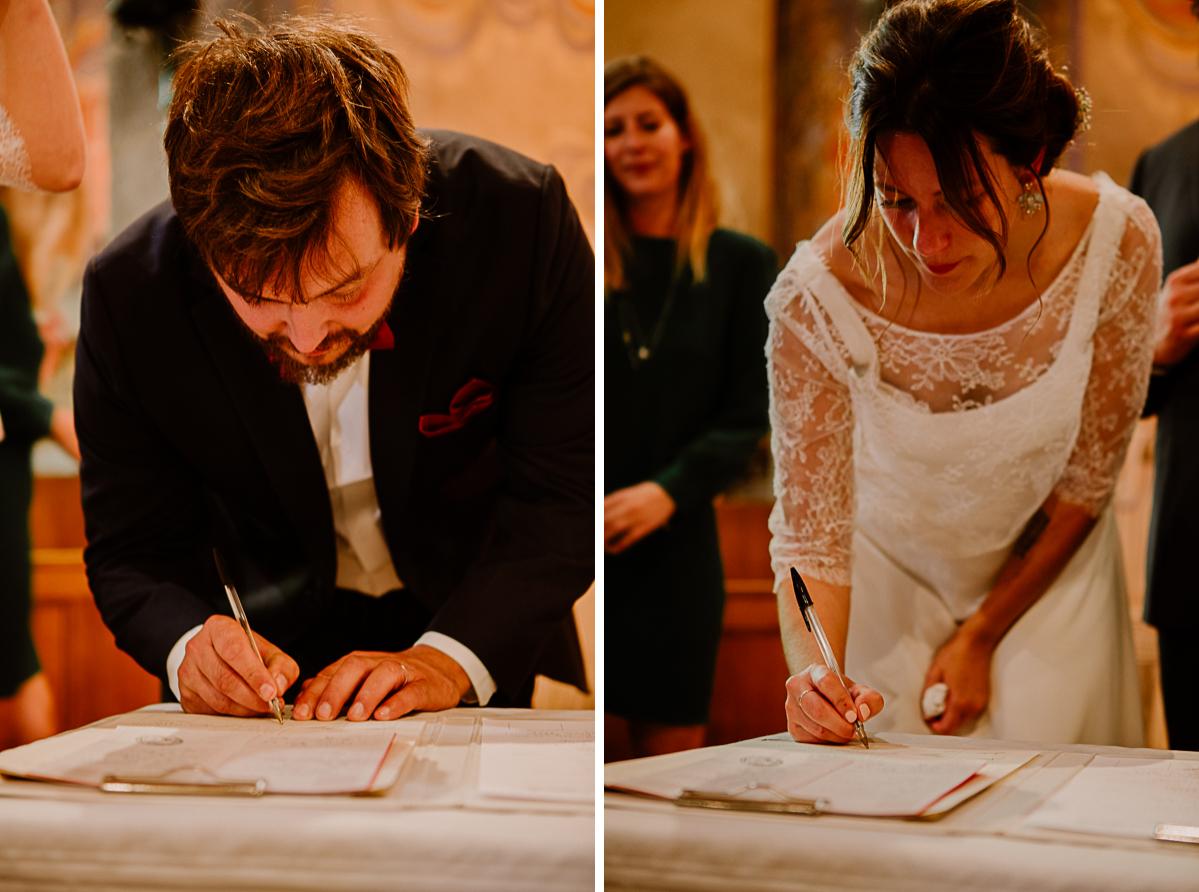 Mariage champêtre au chateau de Chazeron Auvergne signé