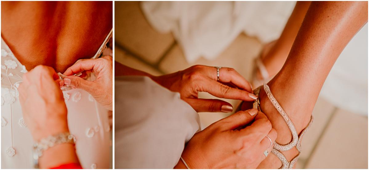 mariage au domaine de la médicée annecy habillage