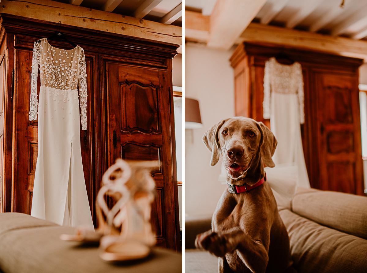 mariage au domaine de la médicée annecy chien