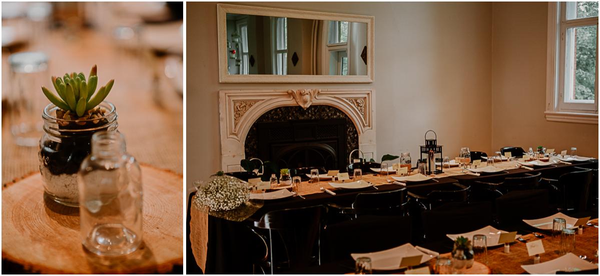 mariage intime au québec en automne table