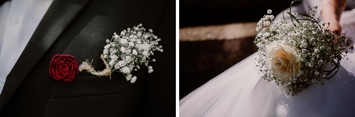 mariage intime au québec en automne fleurs
