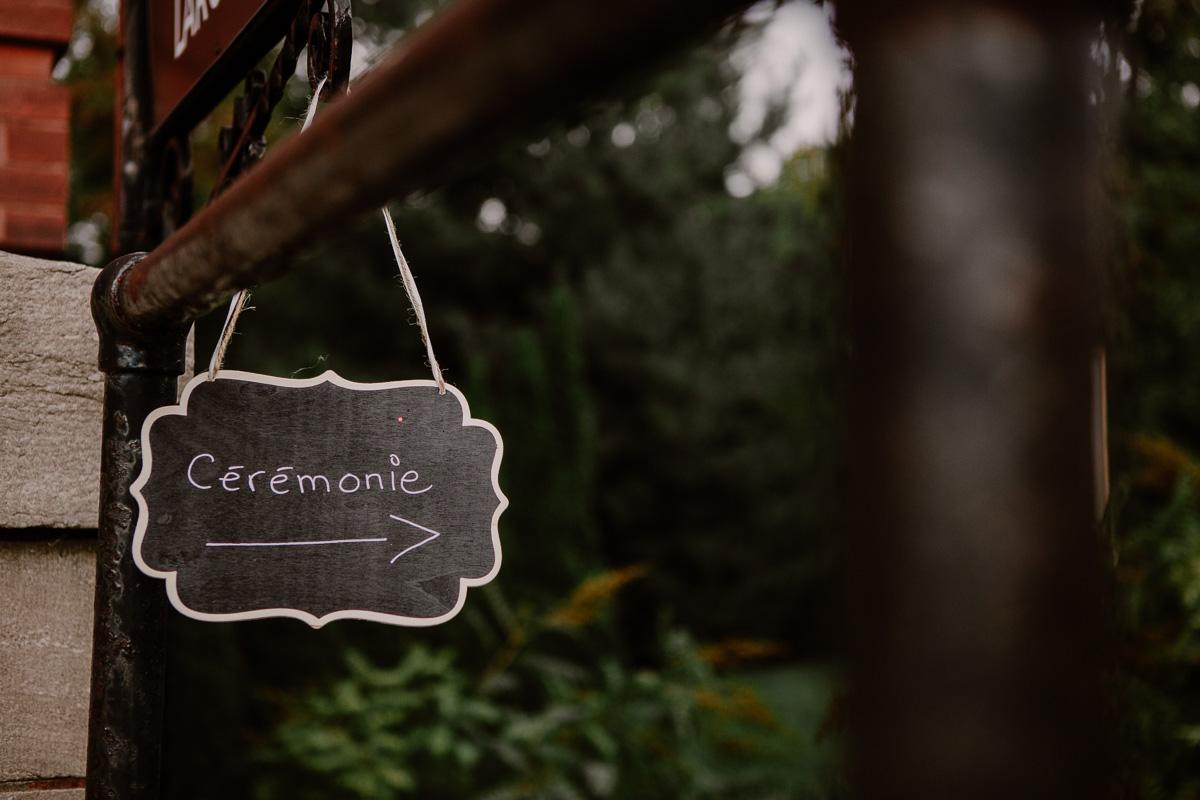 mariage intime au québec en automne panneau