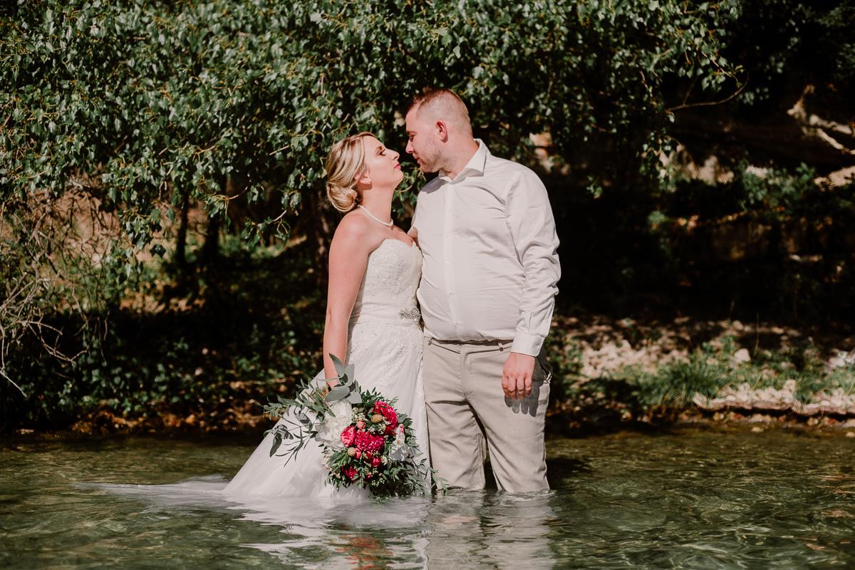 Trash the dress au lac du bourget près d'annecy amoureux