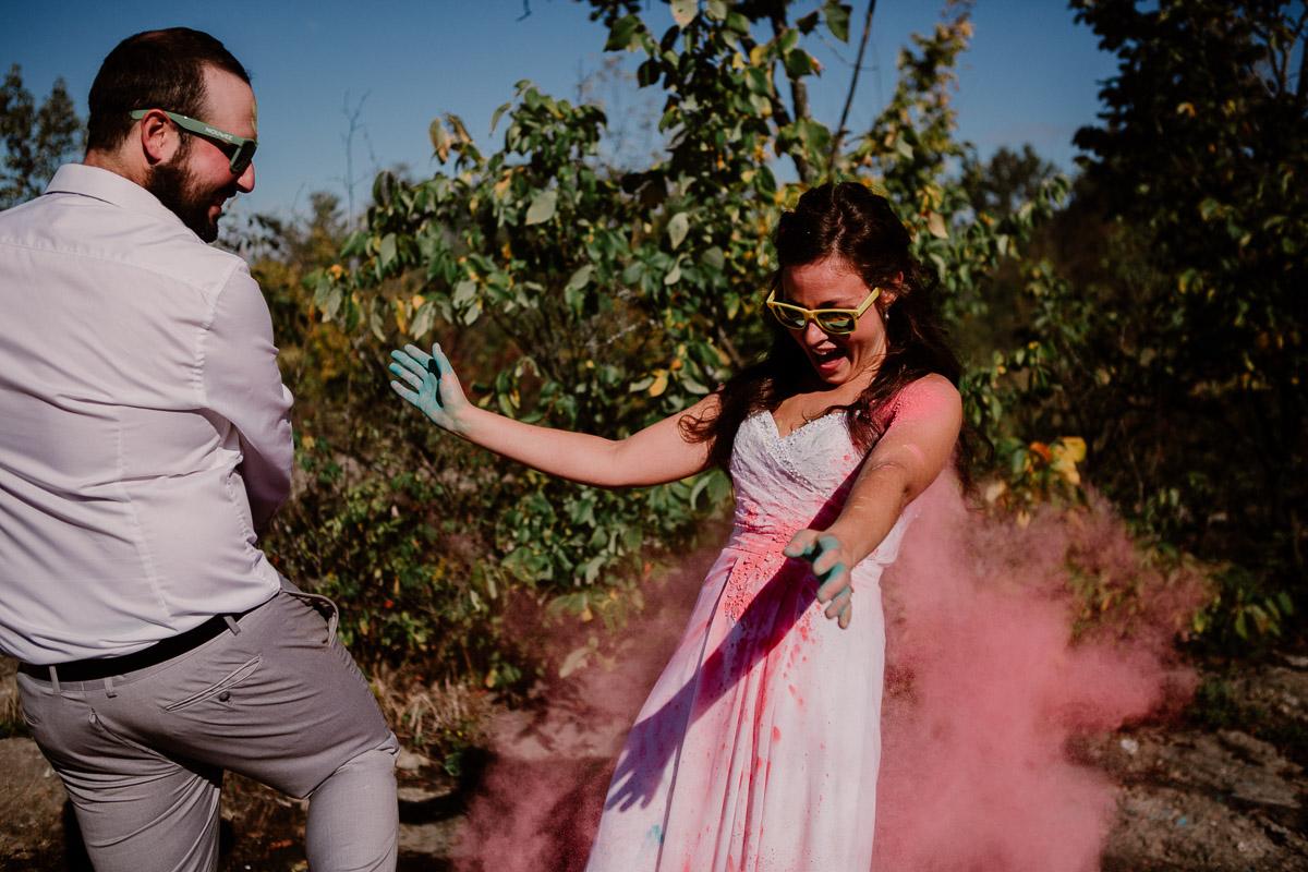 trash the dress fun et coloré rose