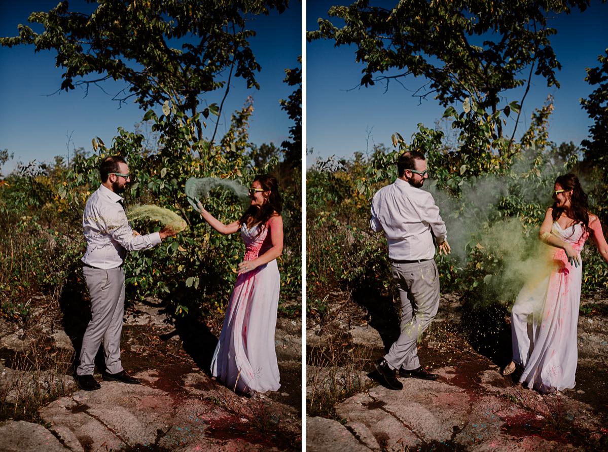 trash the dress fun et coloré lancé