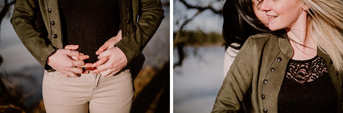 Séance de couple lesbienne lac servière dentelle
