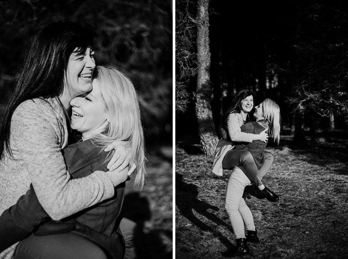 Séance de couple lesbienne lac servière cabriole