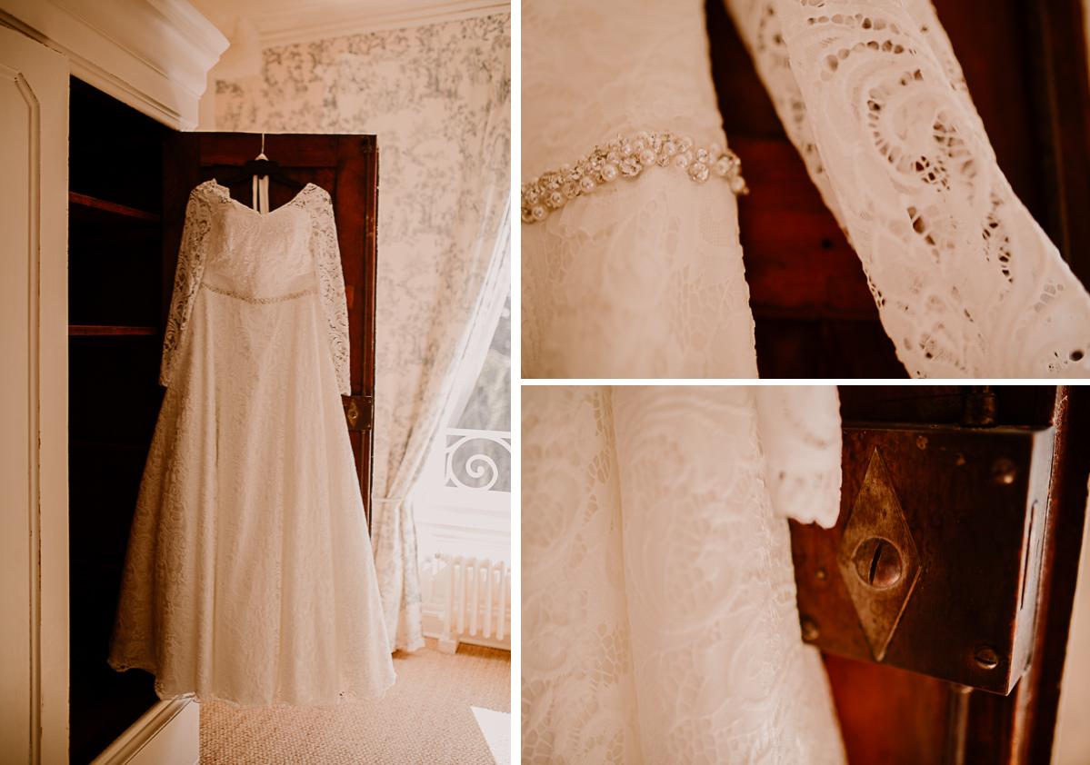 mariage intime au chateau de chazelles robe