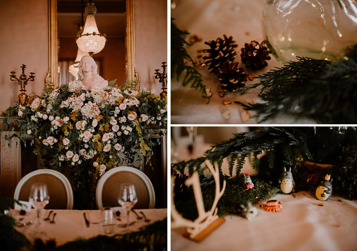 mariage intime au chateau de chazelles decoration