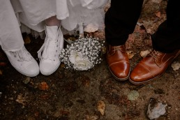Mariage intime au québec chaussures