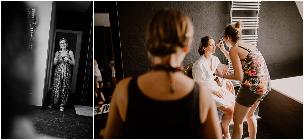 Photographe de mariage chateau boisrigaud usson auvergne maman admirative