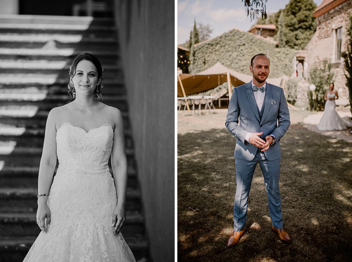 Photographe de mariage chateau boisrigaud usson auvergne avant la découverte