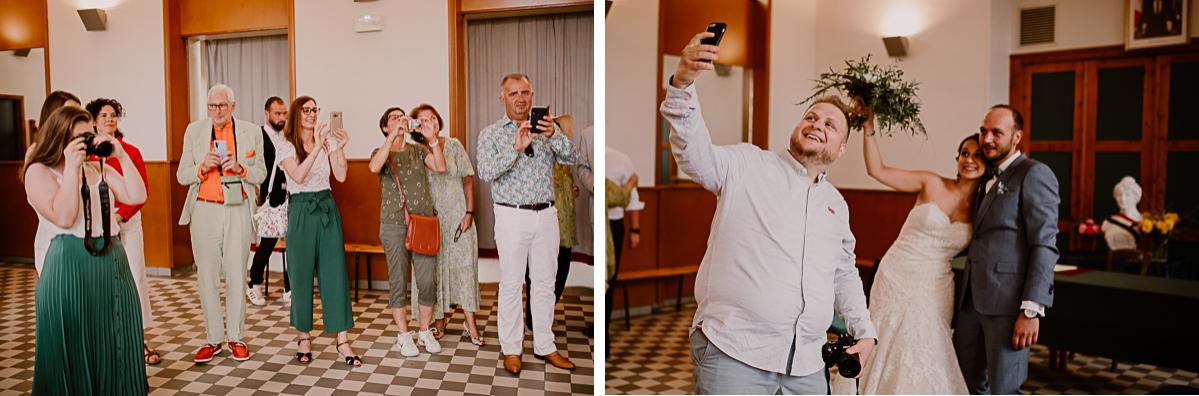 Photographe de mariage chateau boisrigaud usson auvergne selfie