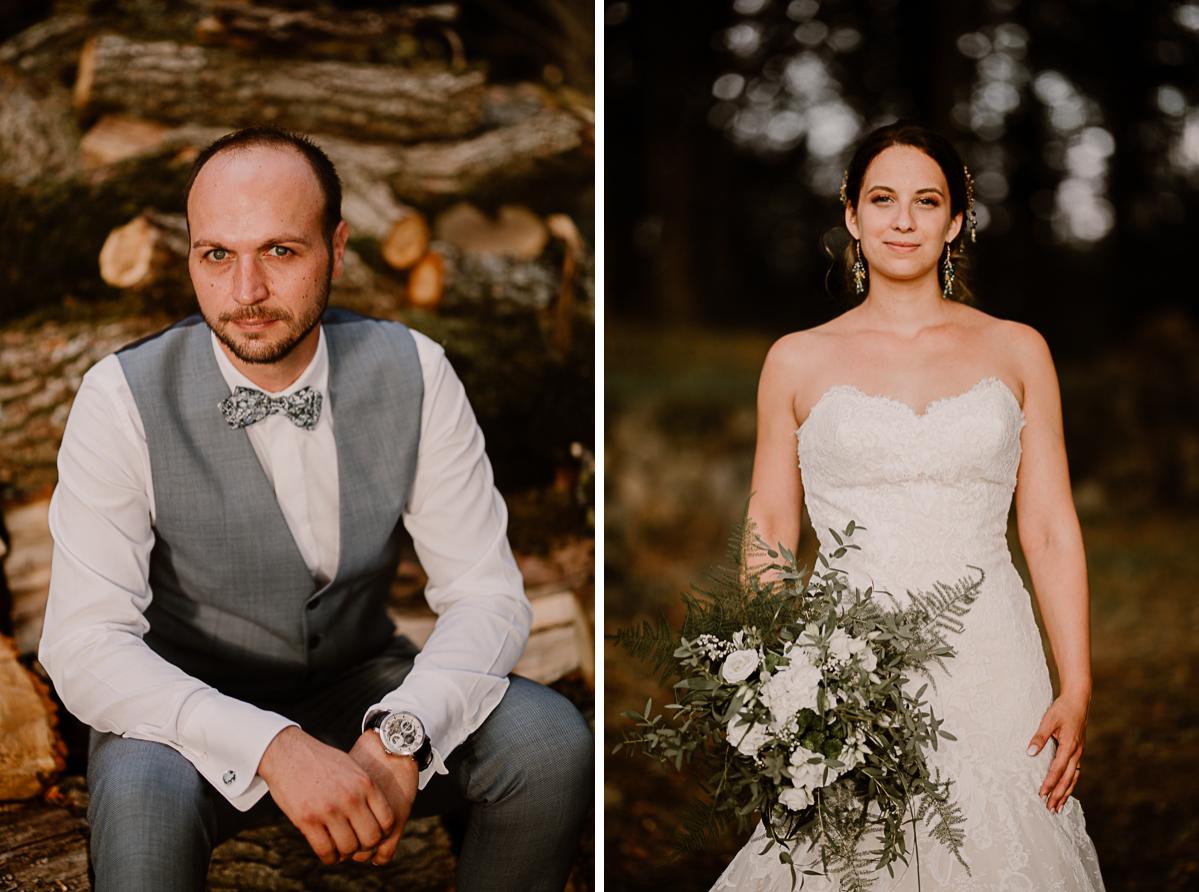 Photographe de mariage chateau boisrigaud usson auvergne portrait