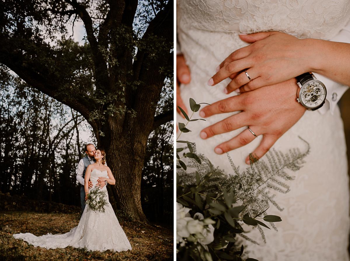 Photographe de mariage chateau boisrigaud usson auvergne mains