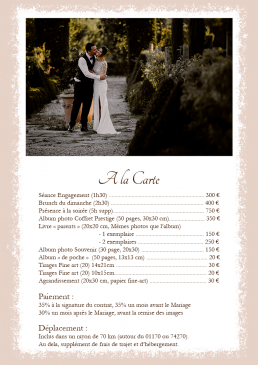 collection tarifs photographe mariage annecy léman carte